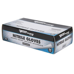 Forney Disposable Nitrile Gloves, 50 Count (Size L)
