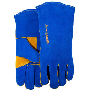 Forney Blue Leather Welding Gloves (Men's L)