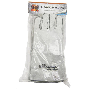 Forney Gray Welding Gloves, 3-Pack (Size XL)