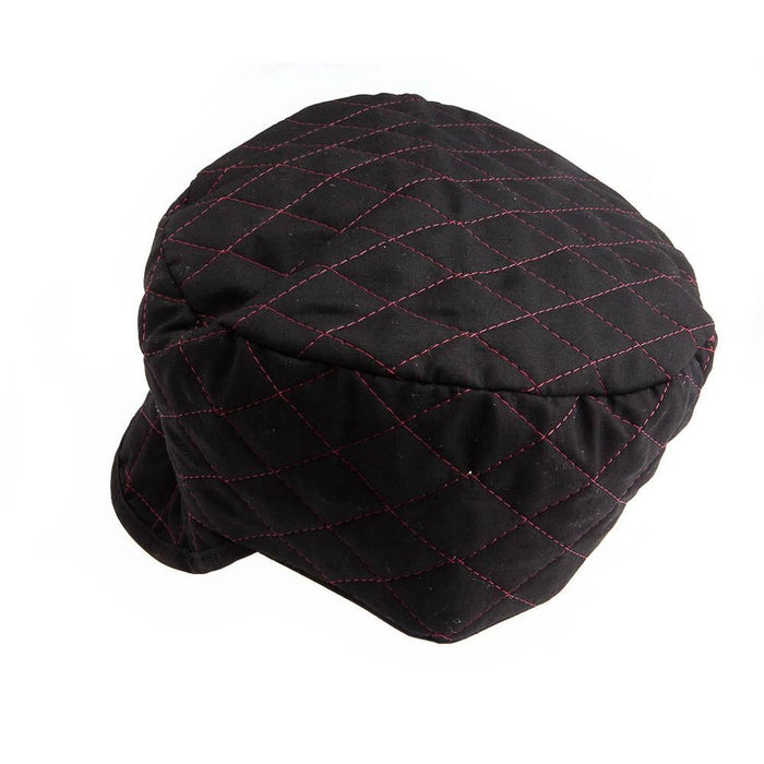 Forney Quilted Black Skull Cap, Size 7-1/4