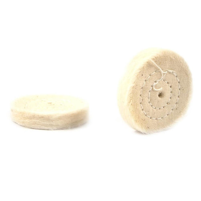 "Forney Buffing Wheel, Cotton, Replacement, 1-1/2"" (2-Pack)"