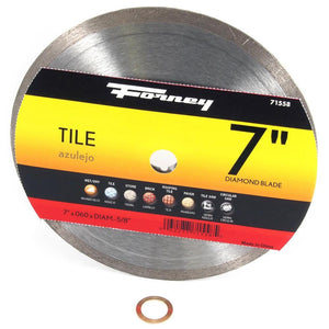 Forney Diamond Tile-Cutting Blade, 7""