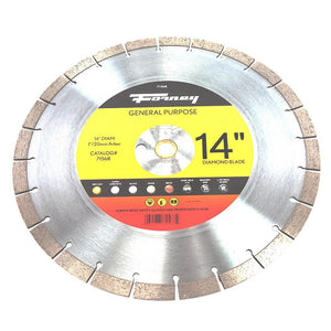 Forney Diamond High Speed Contractor Blade, 14""