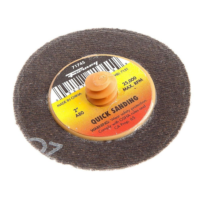 "Quick Change Sanding Disc, 2"", 80 Grit"