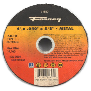 "Cut-Off Wheel, Metal, Type 1, 4"" x .040"" x 5/8"""