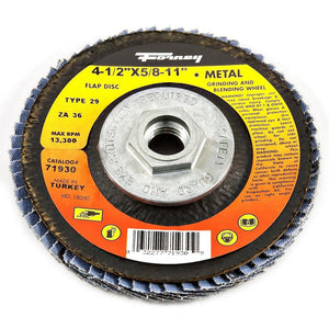 "Flap Disc, Type 29, 4-1/2"" x 5/8""-11, ZA36"
