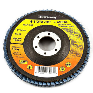 "Flap Disc, Type 29, 4-1/2"" x 7/8"", ZA40"