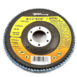 "Flap Disc, Type 29, 4-1/2"" x 7/8"", ZA60"