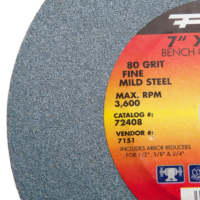 "Forney Bench Grinding Wheel, 7"" x 1"" x 1"""