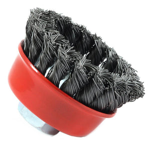"Cup Brush Knotted, 2-3/4"" x .020"" x 5/8""-11 Arbor"