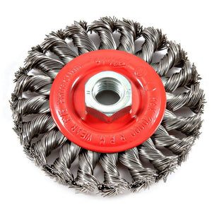 "Wire Wheel Knotted, 4"" x .020"" x 5/8""-11 Arbor"