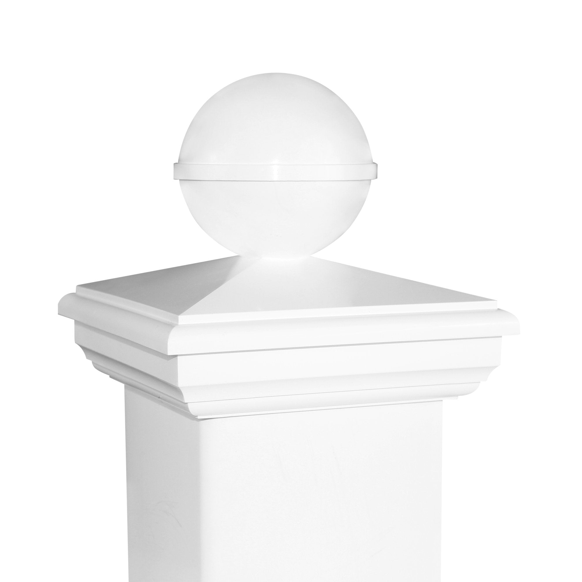 5x5 NEW ENGLAND BALL PVC POST CAP $10.87 each