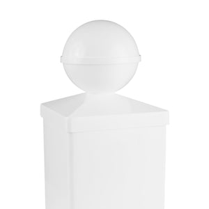 4x4 BALL PVC POST CAP $6.49 each
