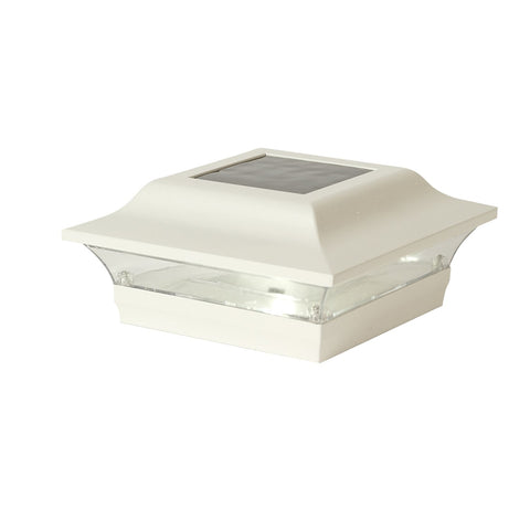 4x4 WHITE ALUMINUM  IMPERIAL SOLAR POST CAP