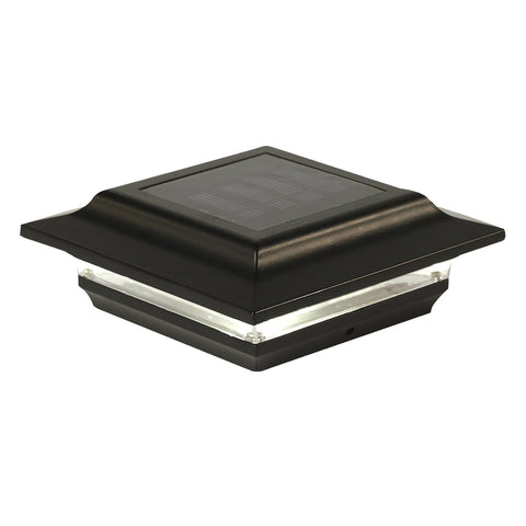 5x5 BLACK ALUMINUM IMPERIAL SOLAR POST CAP
