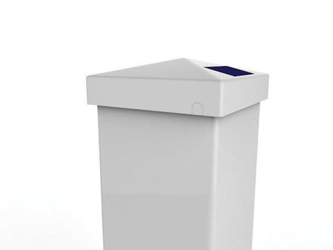 4x4 WHITE PVC PYRAMID SOLAR POST CAP