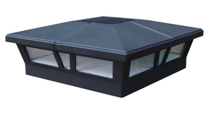 6x6 BLACK ALUMINUM CAMBRIDGE SOLAR POST CAP