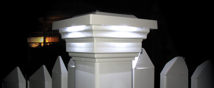 4x4 WHITE PVC REGAL SOLAR POST CAP