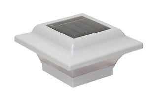 2.5x2.5 WHITE ALUMINUM IMPERIAL SOLAR POST CAP