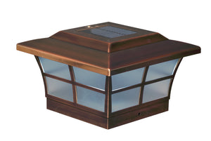 6x6 COPPER PLATED PRESTIGE SOLAR POST CAP