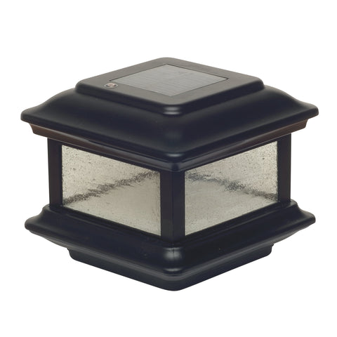 4x4 BLACK ALUMINUM COLONIAL SOLAR POST CAP