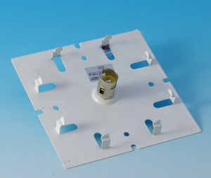 "12V Base Plate with 3 Sockets, for 6"" Light 