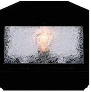 "Blue Chip Glass (ice crystal), 6"" Light 