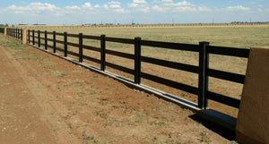 Black Vinyl Horse Fence 496ft - 3 and 4 Rail