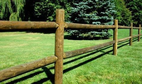Round-Rail-Wood-Fence-2-and-3-rail-Pressure-Treated-Southern-Yellow-Pine