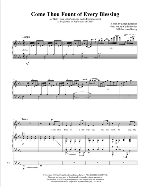 Come Thou Fount Sheet Music