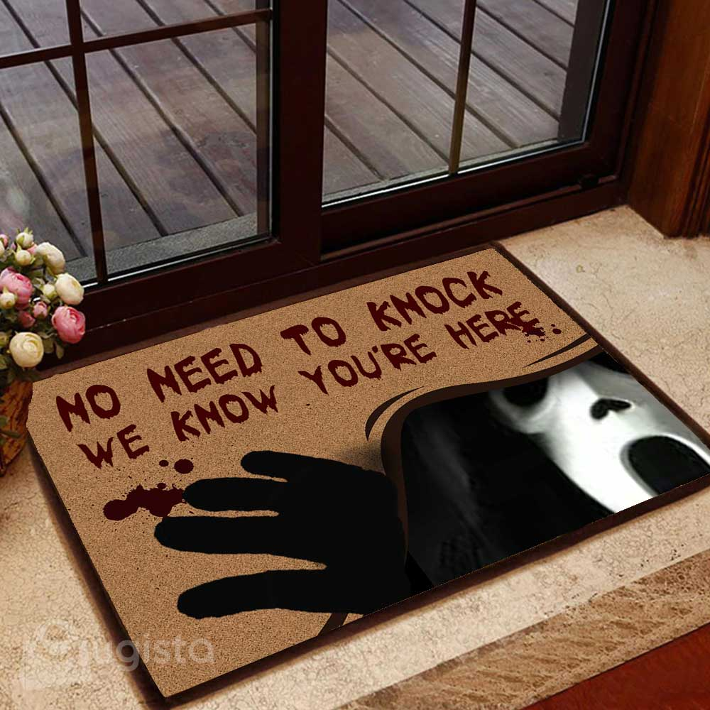 No Need To Knock Horror Movie Character Doormat 04