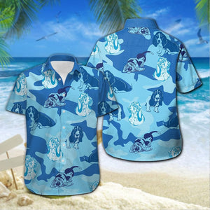 BASSET HOUND CAMO BEACH CLOTHES
