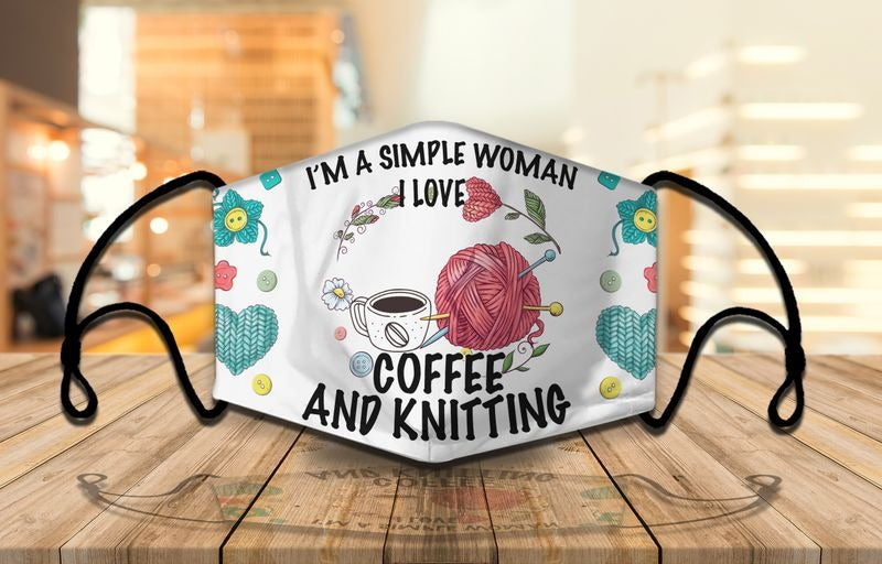 Coffee and knitting mask