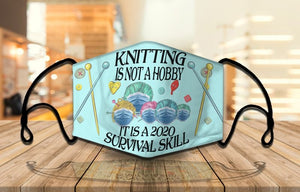 Knitting hobby mask