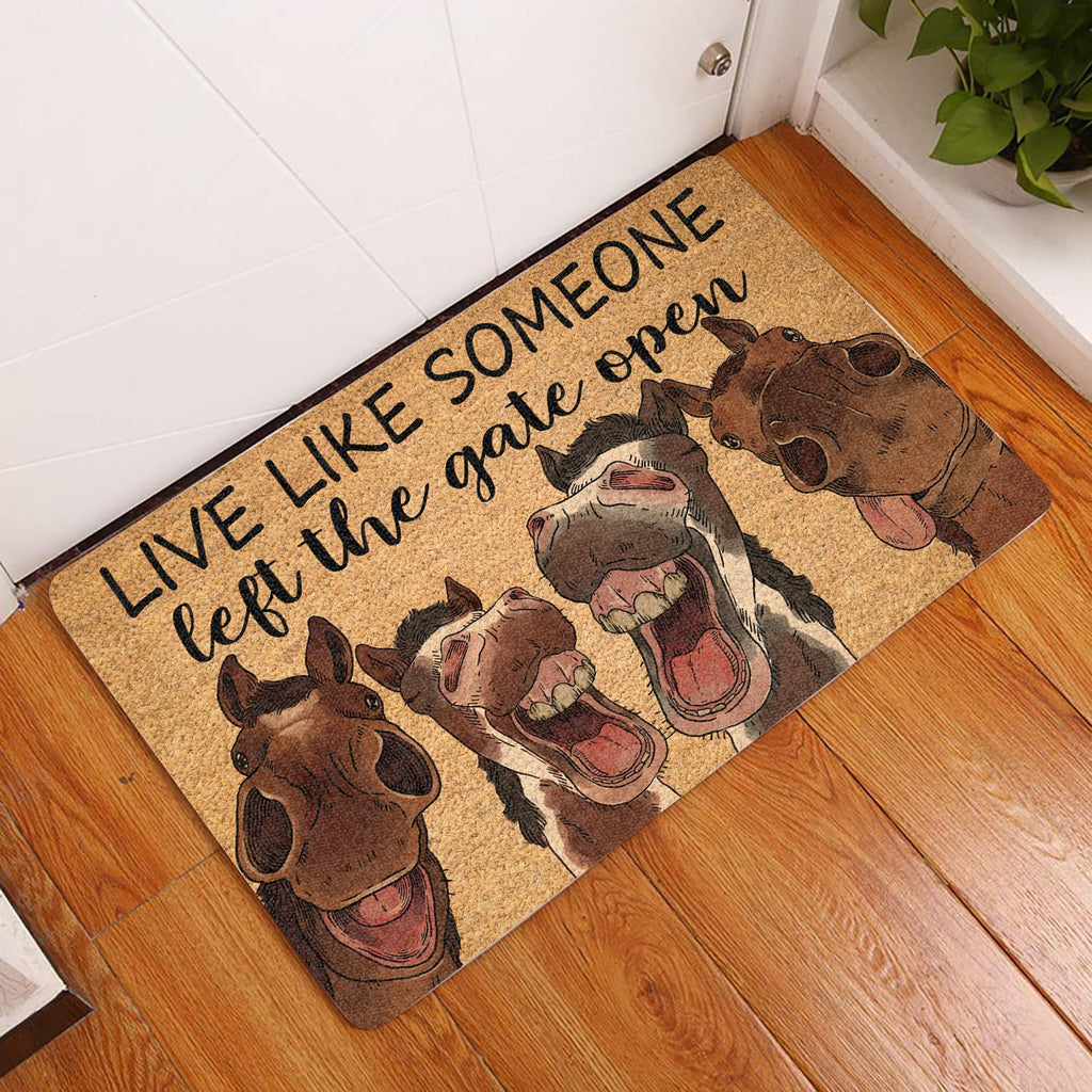 LIVE LIFE SOMEONE ALL OVER PRINTING DOORMAT