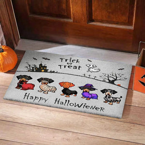 Dachshund Happy Halloweener Doormat