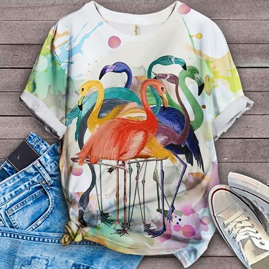 FLAMINGO ALL OVER PRINT T-SHIRT 5