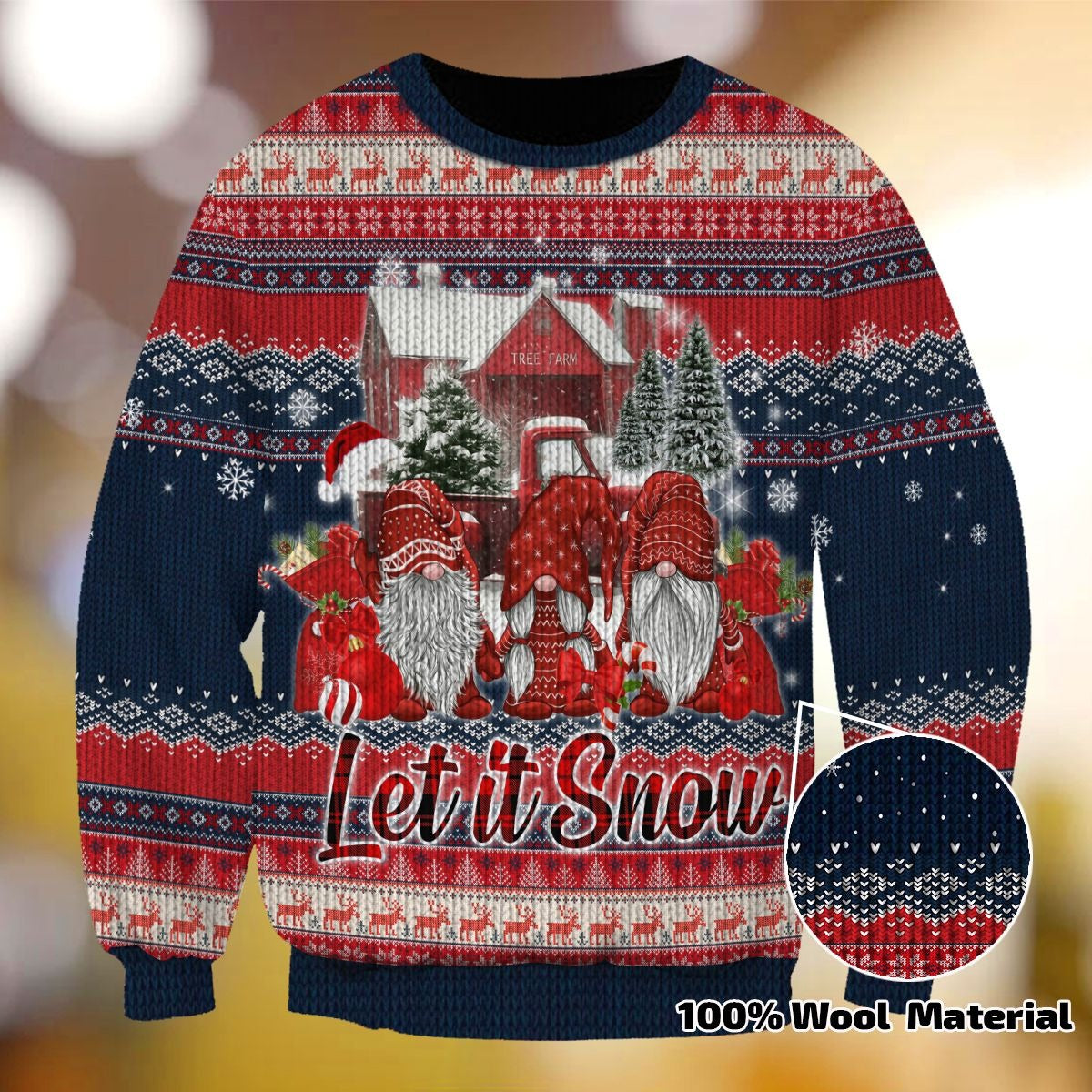 LET IS SNOW SWEATER