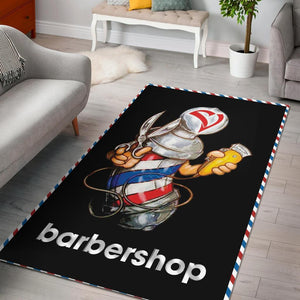 Barber Pole Barber Shop Rug