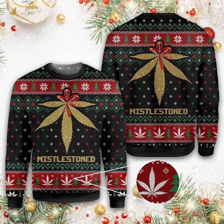 MERRY CHRISTMAS WEED MISTLESTONED UGLY