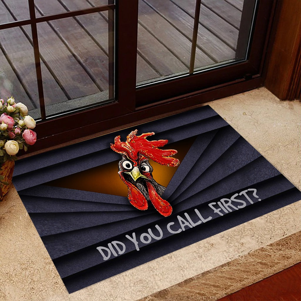 Do You Call First Chicken Doormat