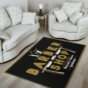 Barber Rug King Barber Shop Gentleman Black Full Size