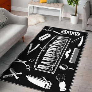 Barber Shop Rug Barber Tool Black