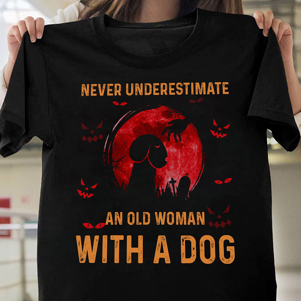 Never underestimate an old woman with a dog