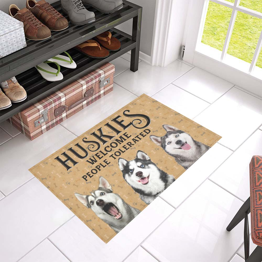 Pit Bull Welcome People Tolerated Doormat