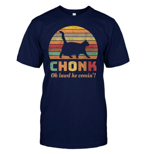 Funny Chonk Scale Cat Meme T-SHIRT
