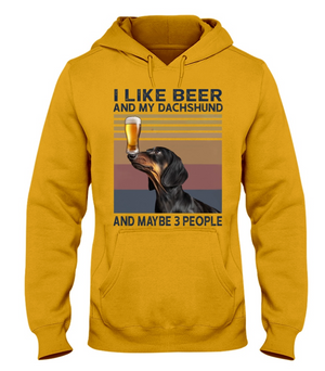 I like beer and my Dachshund