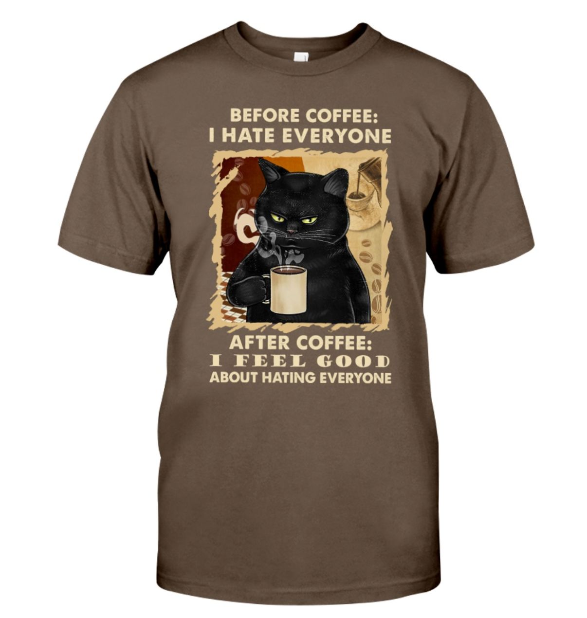 I Hate Everyone Cat With Coffee