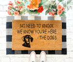 No need to knock - Dachshund Doormat 02
