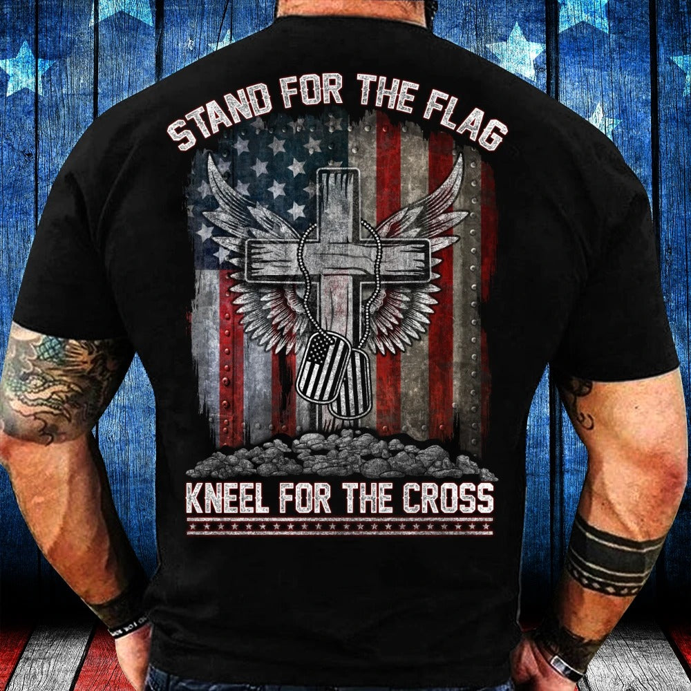 Stand For The Flag Kneel For The Cross T-Shirt
